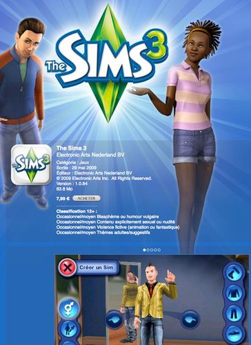 rapidshare Les Sims 3 - iPhone - iPod touch