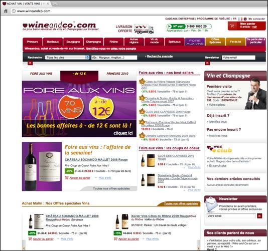 Code de réduction Wine and co