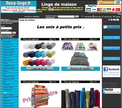 deco-linge.fr Code promo