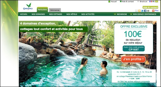 Center Parcs code promo réduction