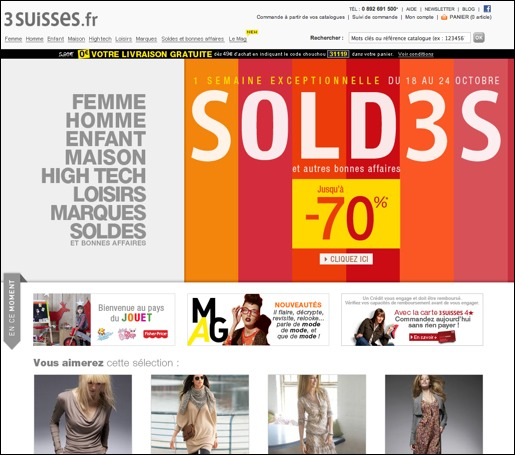 3 Suisses .fr -20€ de bon de reduction