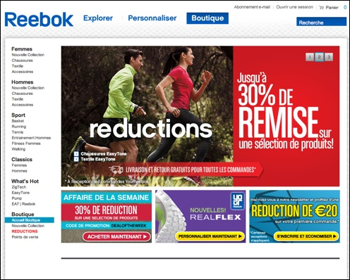 Reebok code promo / bon de réduction