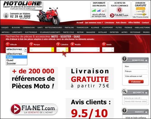 MotoLigne code promo
