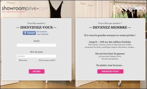 Showroom privé code promo