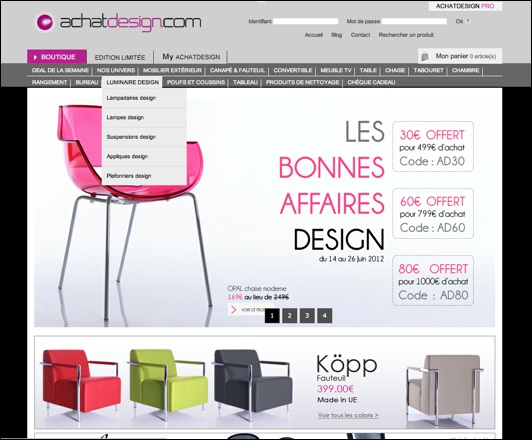 achatdesign .com code promo
