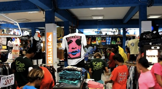 Harlem Shake surf shop à Tahiti