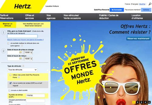 Hertz .fr code promo de -10%